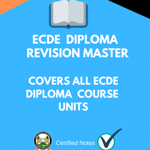 ECDE certificate revision questions and answers - Kenyan Exams