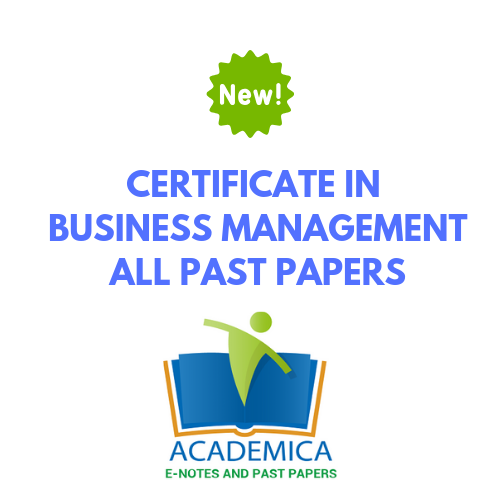 certificate in business management past papers